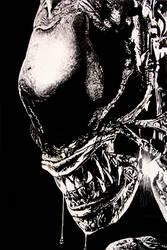 AVP close up alien by RTyson
