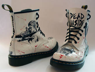 The Walking Dead customised Dr Martens