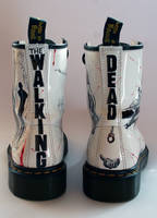 The Walking Dead customised Dr Martens back by RTyson