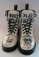 The Walking Dead customised Dr Martens Front by RTyson