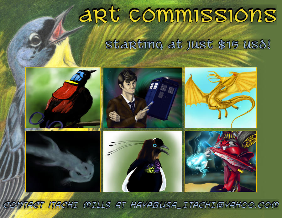 Art Commissions -- OPEN by Russockshitha