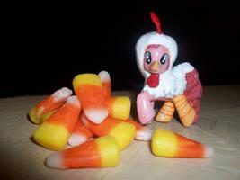 Pinkie Pie Chicken Costume by Gryphyn-Bloodheart