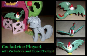 Cockatrice Playset with Stoned Twilight by Gryphyn-Bloodheart
