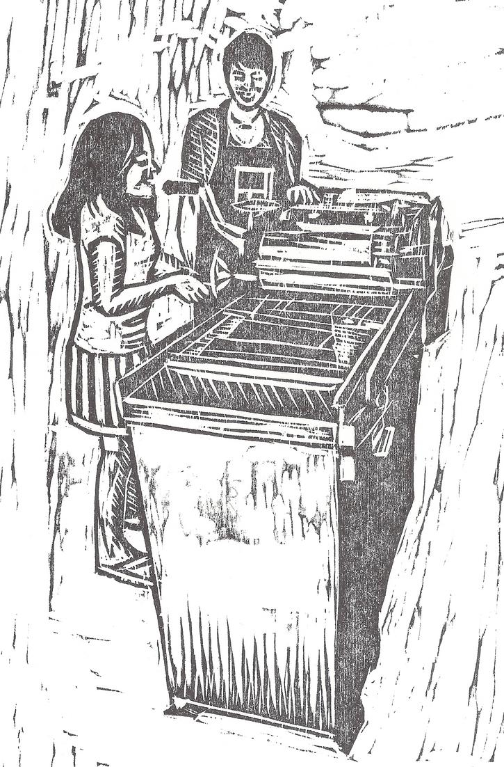 Letterpress Detail by Gryphyn-Bloodheart