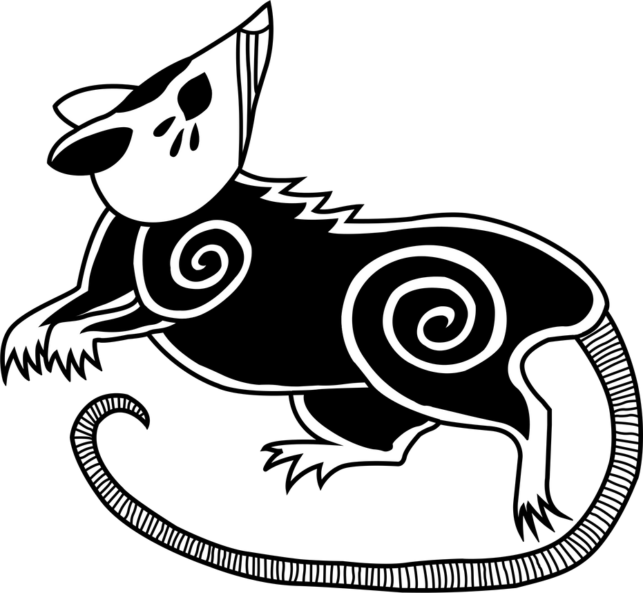 Vermin Tribe Possum 2 in Black and White by Gryphyn-Bloodheart