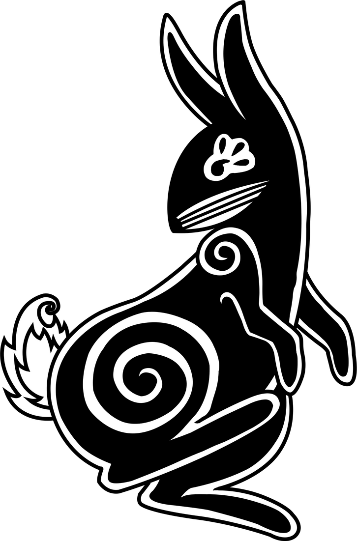 Vermin Tribe Rabbit 1 in Black and White by Gryphyn-Bloodheart