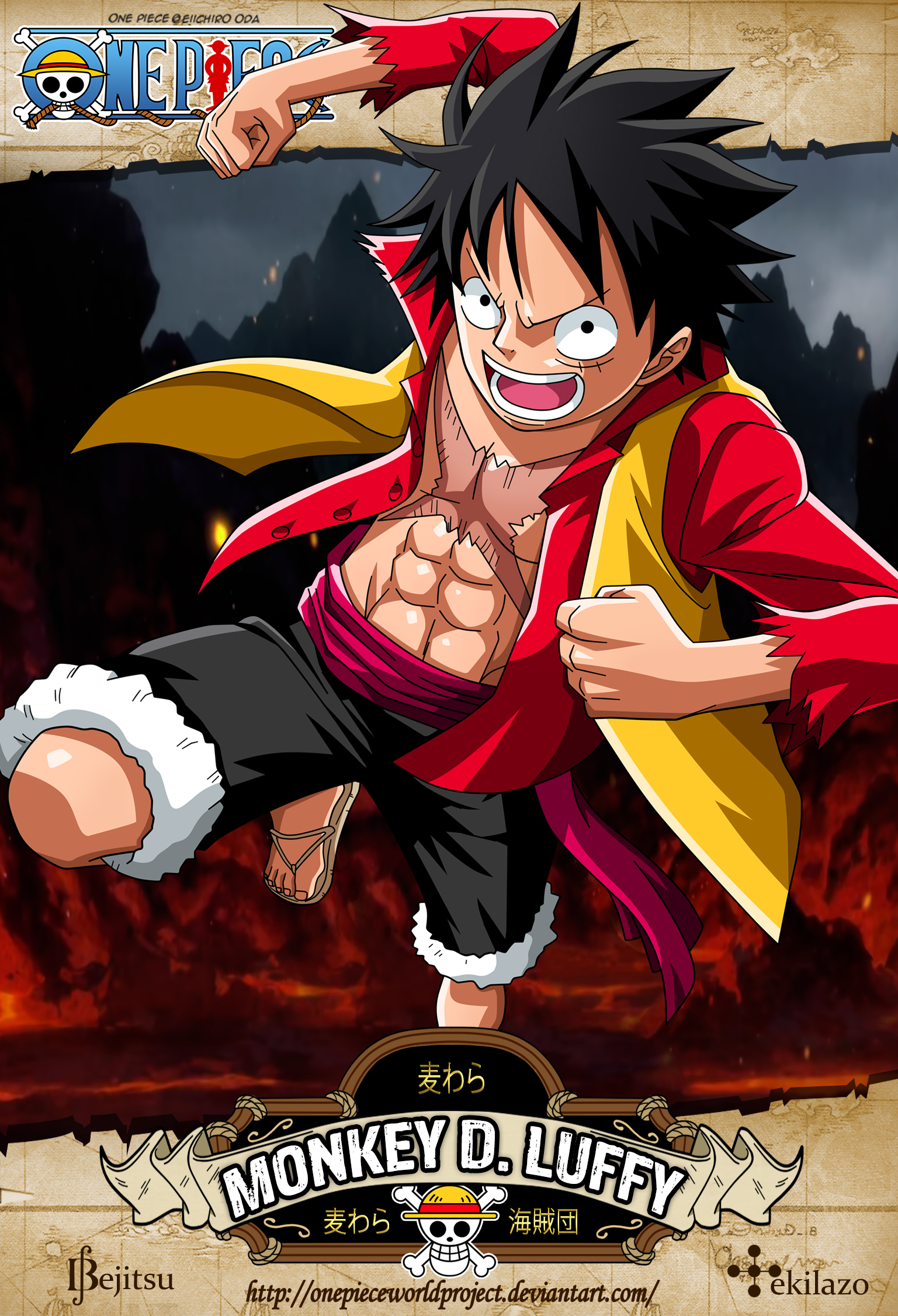 One Piece Monkey D Luffy By Onepieceworldproject On Deviantart