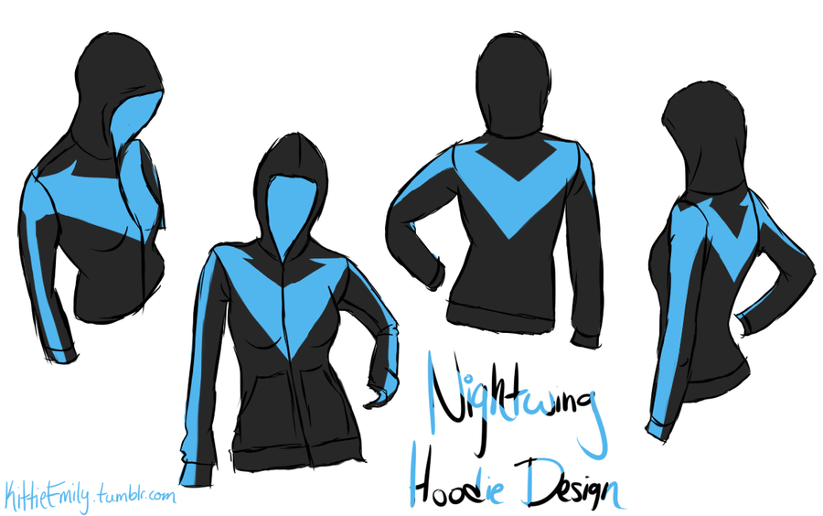 Nightwing Hoodie Design By Chibi Aeri Chan ...