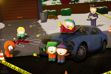 South Park - Cool Car by MrScaryJoe