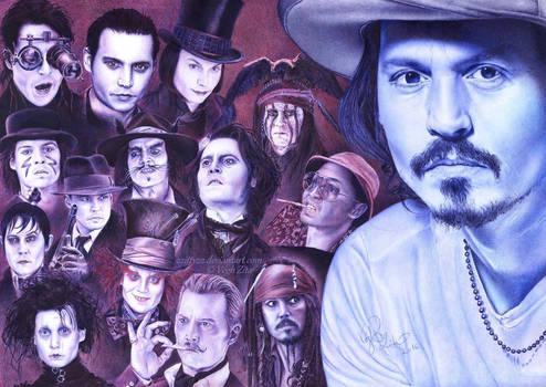 Johnny Depp ballpointpen drawing