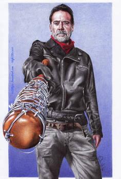 Jeffrey Dean Morgan - color ballpoint pen drawing