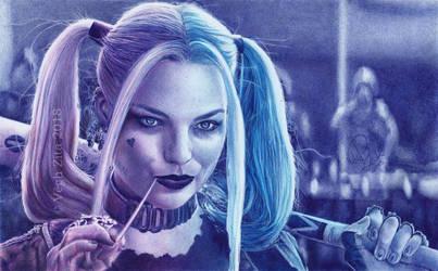 Harley Quinn  pen drawing