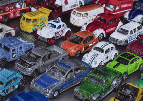 Cars pen drawing