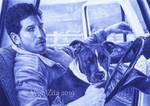 Jon Bernthal pen drawing by 22Zitty22