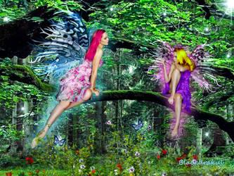 Magia en el bosque by Blackdrakul