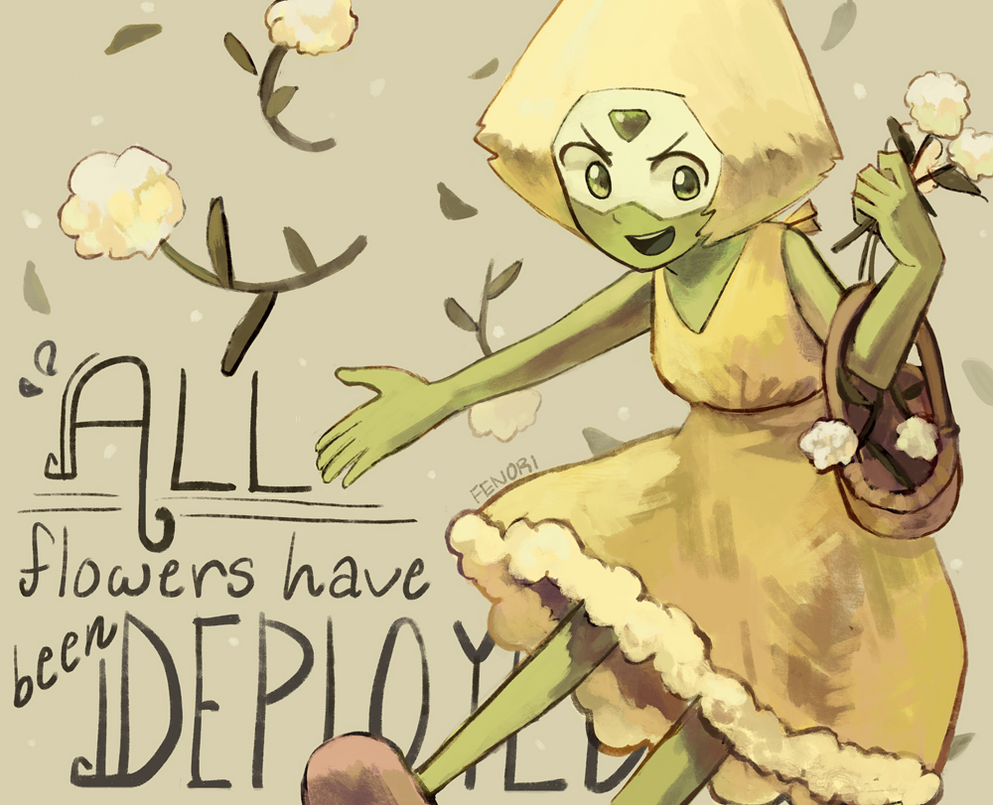 Speedpaint! PERIDOT IS THE CUTEST FLOWER GREMLIN LMAO its been a while since i drew my fave homegirl LOL BLESS THESE EPS steven u man... its so good happy this took shorter than i usually do, aroun...