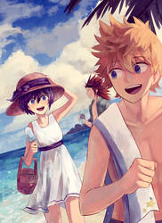 today we can finally hit the beach by Fenori
