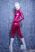 Sexy HappyNewYear Pink Catsuit by AgnaDevi