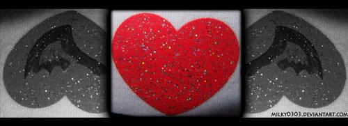 Heart-Shaped Bat by Milky0303