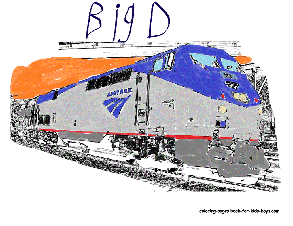 Evening amtrak oil painting by pudgemountain on deviantart for Amtrak coloring pages