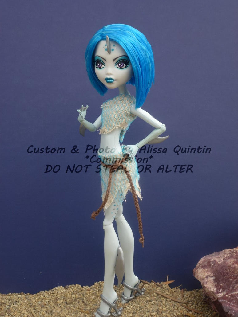 Monster High Custom Wereshark *Commission* by stormfaerie