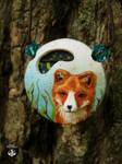 fox pendant by AmiNezumi