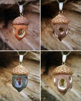 acorn pendant by AmiNezumi