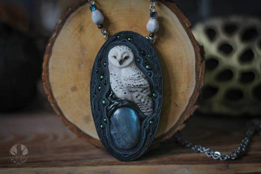 White owl necklace