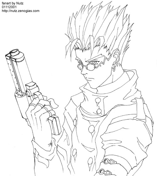 trigun coloring pages | Vash Stampede, Lineart by nutzies on DeviantArt