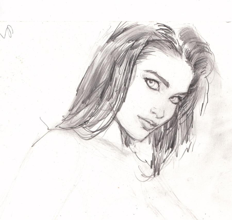 girl drawing by arjorda on DeviantArt