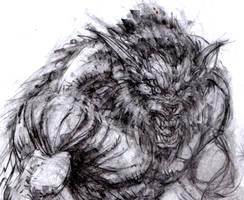 Wolf D Sketch by arjorda