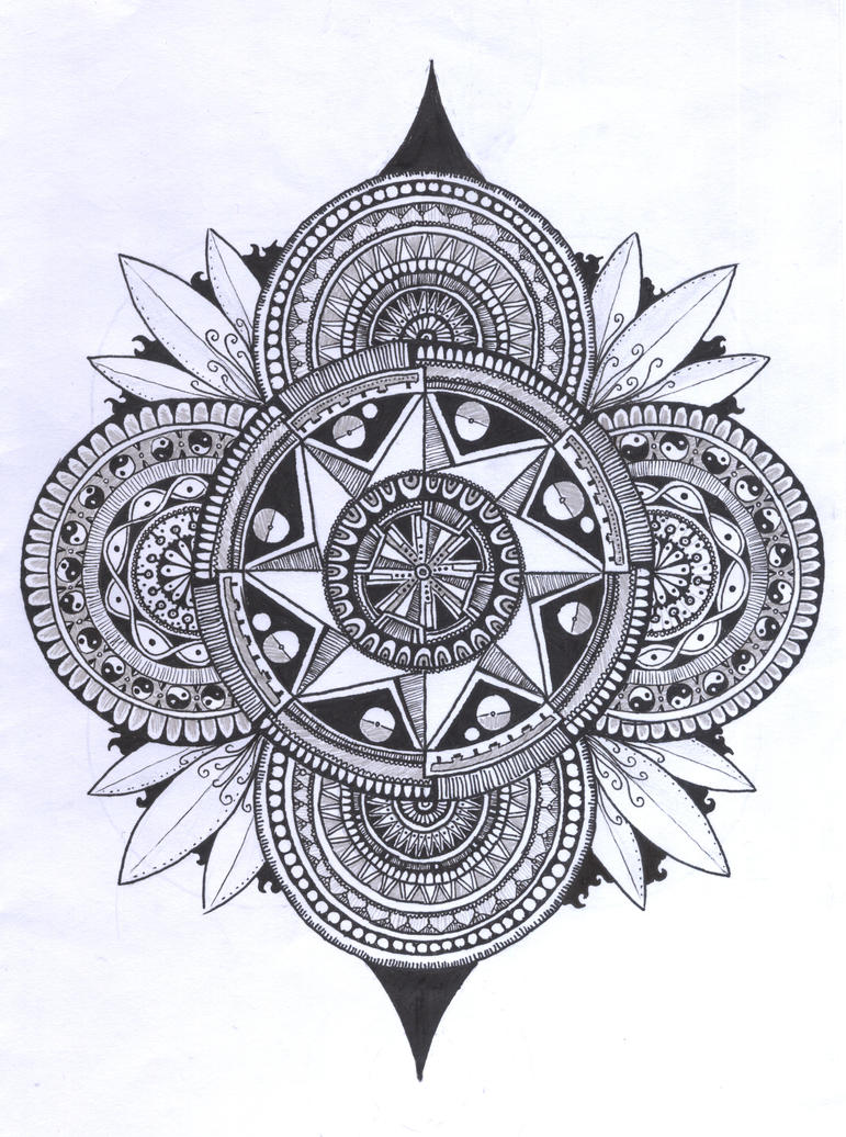 Random Doodle #5 - mandala by oyozZ