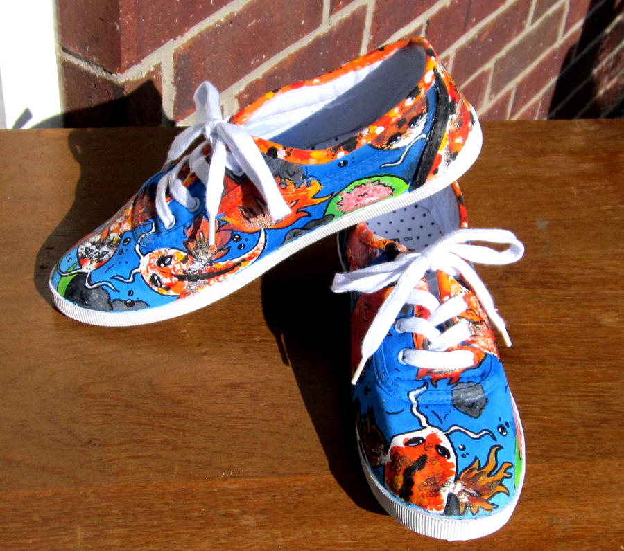 Koi fish shoes by rawrimadino96 on deviantart for Shoes with fish in them