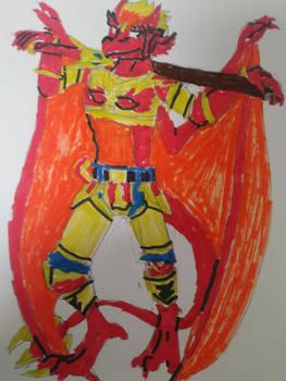 Drake Maza in his Mystic Armor (Dragon form)