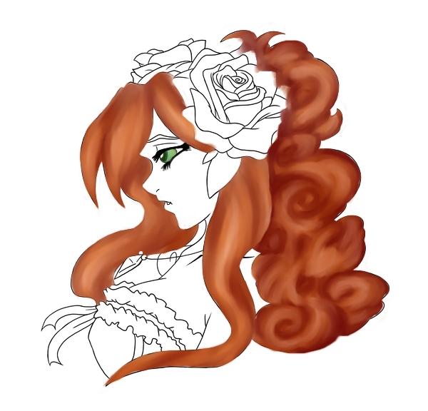 Flower Lady WIP- NEED ADVICE by HarraArial