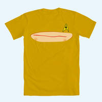 Captain Kirk's chest wound T-shirt by tommullin