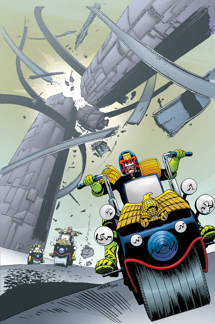 Judge Dredd Classics #6 cover by tommullin