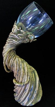 Ceramic Wine Glass by TheTeacupKitten