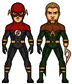 Justice Lord Flash and Aquaman by KnightHawk93