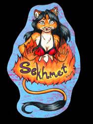 Sekhmet Badge for Mel by Rupee