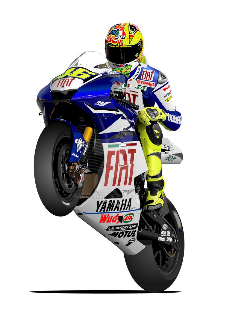 Valentino Rossi MotoGP Yamaha by RacerTees on DeviantArt