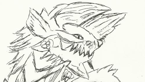 Zinogre sketch by TheGAI