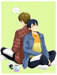 MakoHaru - Reading together