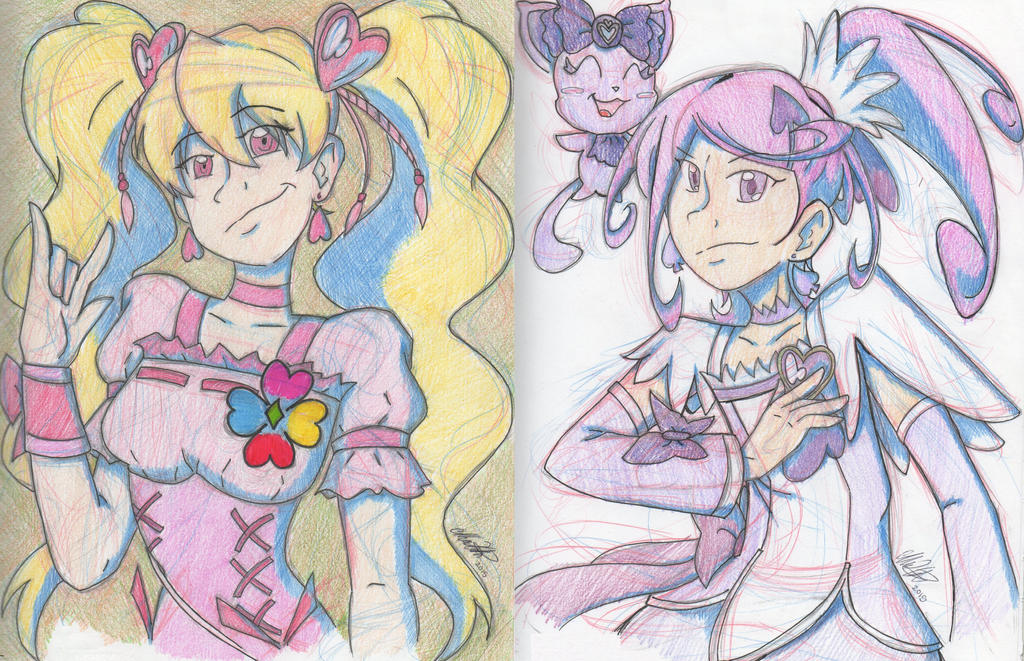 .:Pretty Cure - Cure Peach and Cure Sword:. by Nokama1993