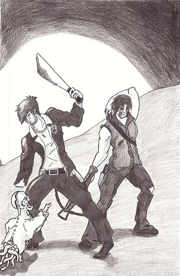 Rick and Daryl by THUNDRkitty