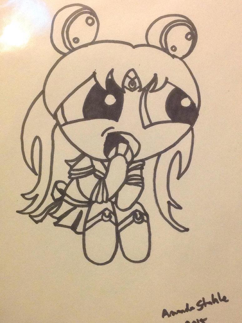 Inktober 9 - Sailor Moon by THUNDRkitty