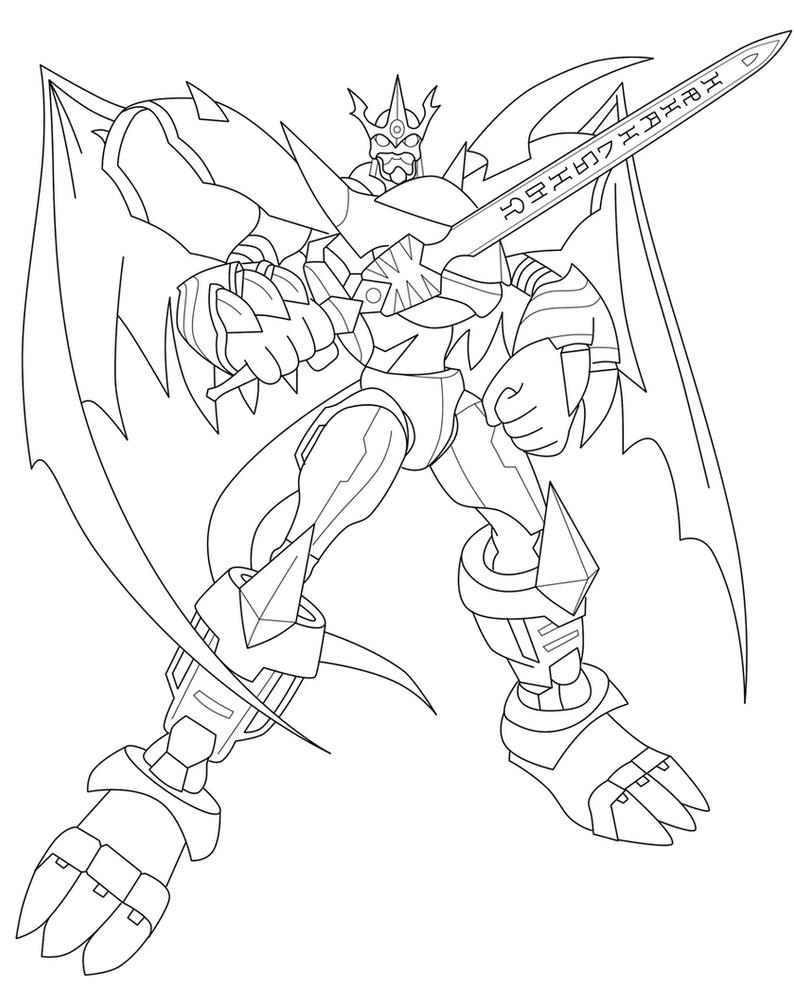 Imperialdramon PM Lineart by Dragon-Rage2 on DeviantArt