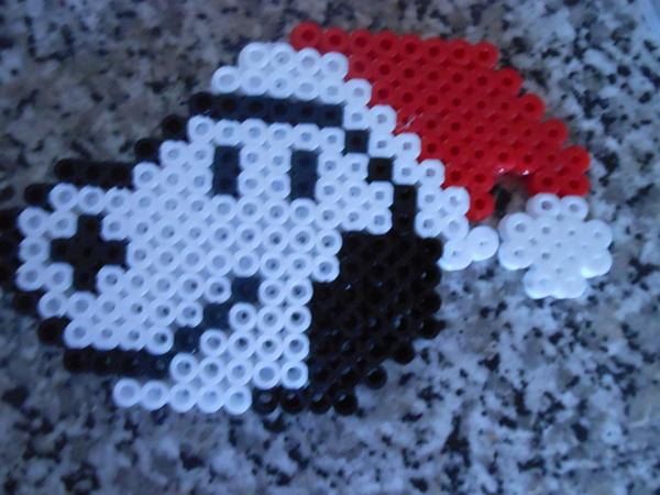 Santa snoopy perler bead by crazydeadbunny