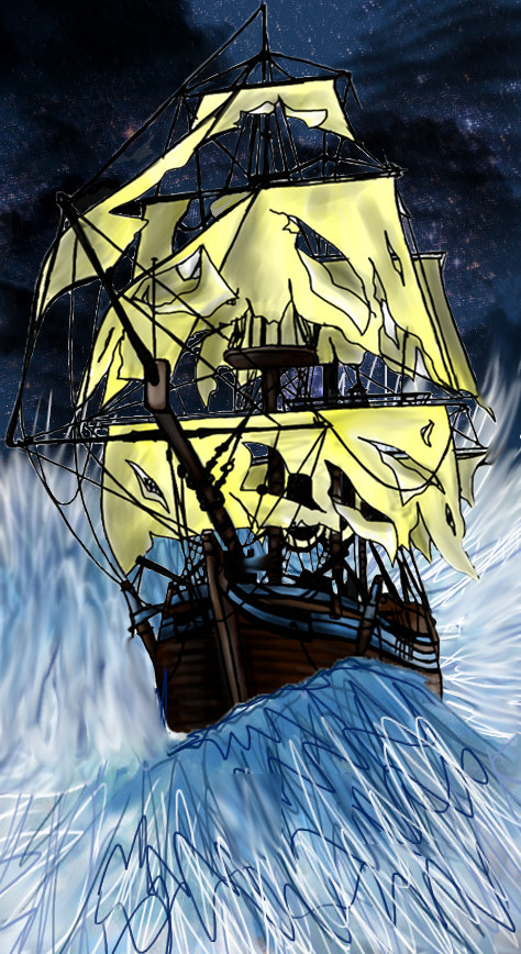 Though My Sails Are Tattered My Anchor Still Holds by vodoofantasy