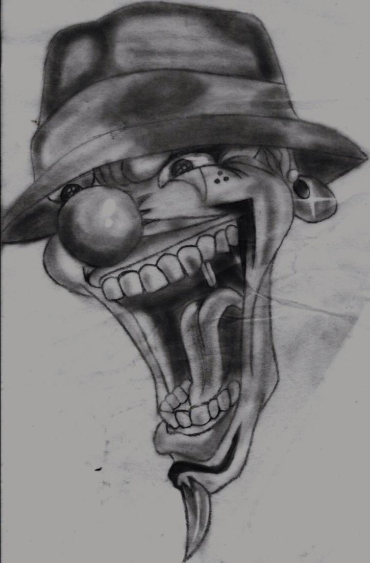 Gangst Coloring Clown Art Related Keywords Suggestions Gangst